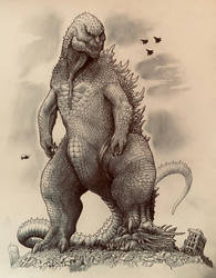 The King of Monsters doing his thing