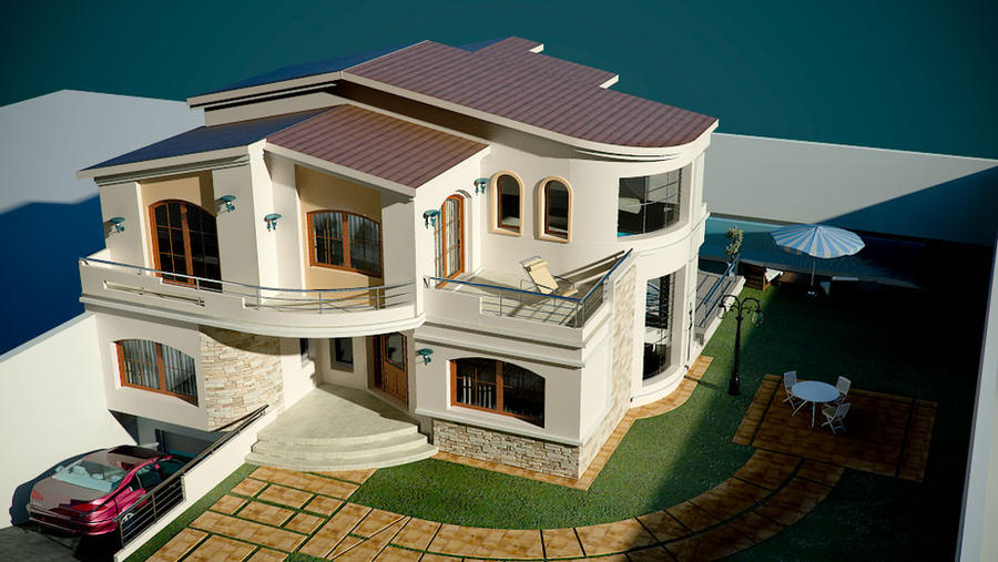 Villa moderne 3 by uticlive on deviantart for Belles villas modernes