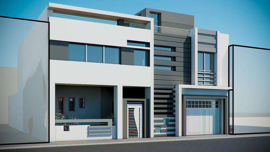 Moderne villa by uticlive on deviantart for Les facades des maisons modernes