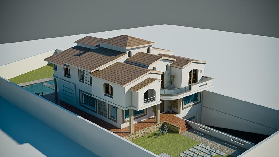 3d villa 39 by uticlive on deviantart for Model villa moderne