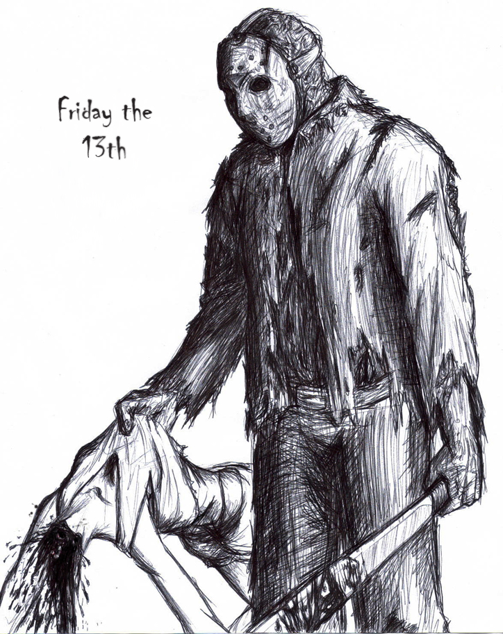 Jason Voorhees by thehotmageaeris Jason Friday The 13th Drawings