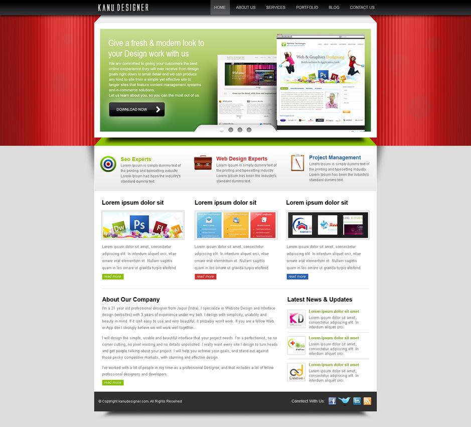 Home Page Design By Kanhasharma On Deviantart