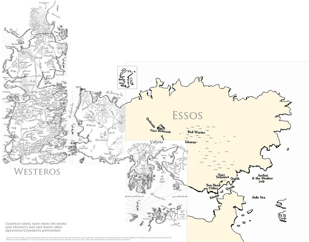 Game of Thrones... Game Of Thrones World Map