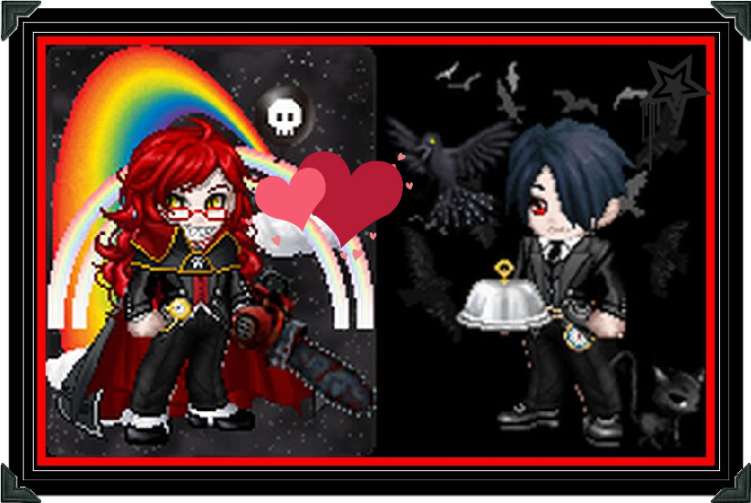 Sebastian Michaelis And Grell Chibi