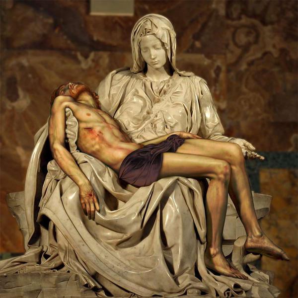 Michelangelo's Pieta by nit3m