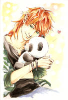 eugenio loves pandas by Throne-of-the-Roses