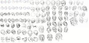 Head Sketch Dump - Daily Practice