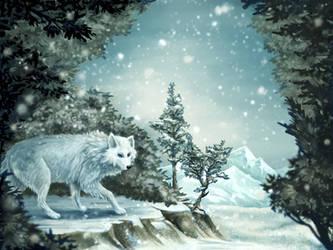 Winter Wolf by Olooriel