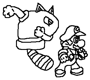 ice mario coloring pages - photo#9