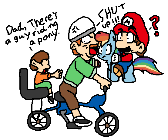 Happy Wheels meets Mario and MLP by IcePony64 on DeviantArt
