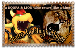 MGM Leo and Bowser stamp