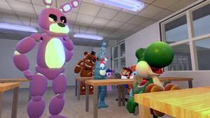 Yoshi in School