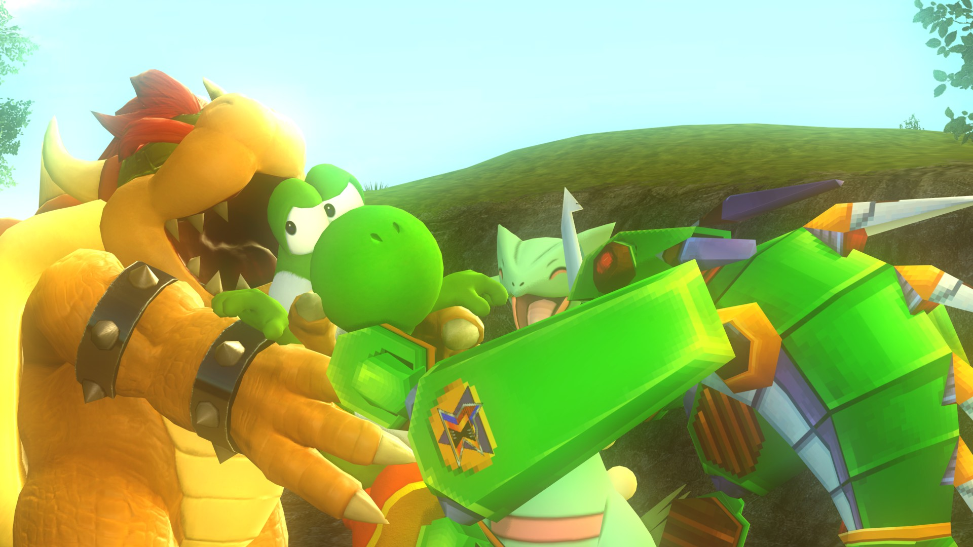 Hugs for the Little Yoshi ^D^ by IcePony64 on DeviantArt |Bowser Loves Yoshi