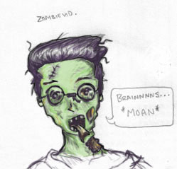 slightly coloured Zombievid by dr-k-atterin