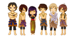Chibi Nacira Characters by chronica