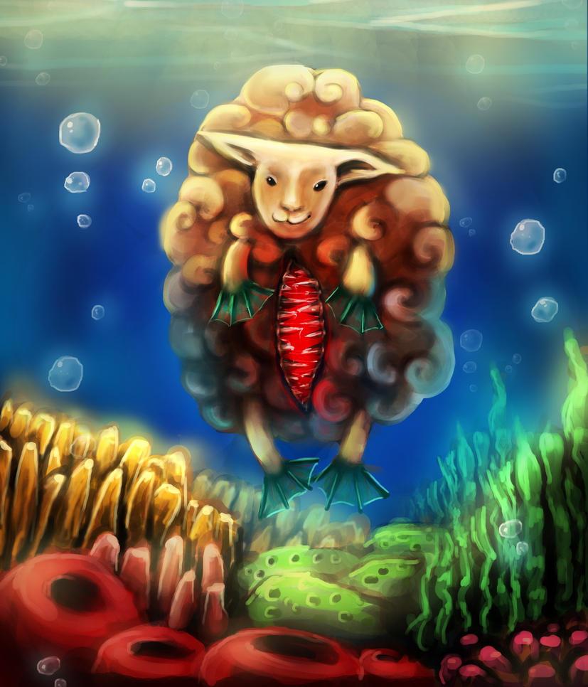 Creepy Sheep by chronica