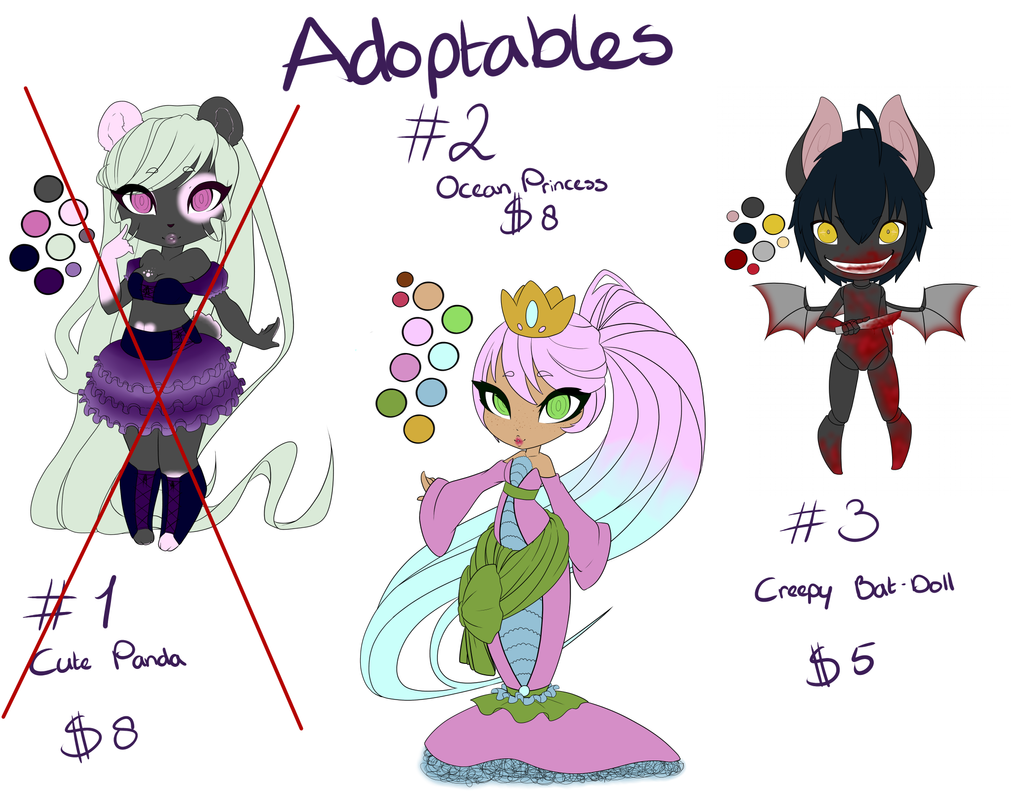 Adoptables! by Cherry-Anne