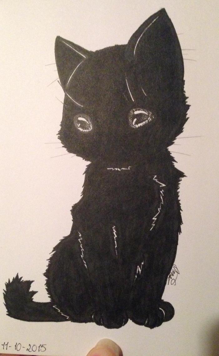 Black Kitty by Cherry-Anne