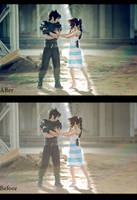 Zack and Aerith. Before_After by Arwenphoto