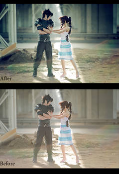 Zack and Aerith. Before_After