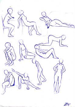study: poses 3