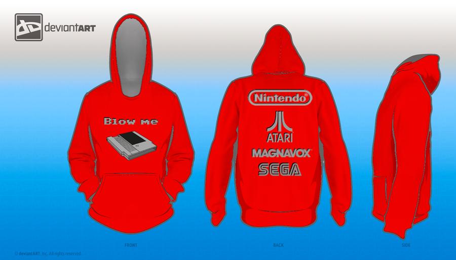 Blow me 8-bit challenge hoodie by stalker77
