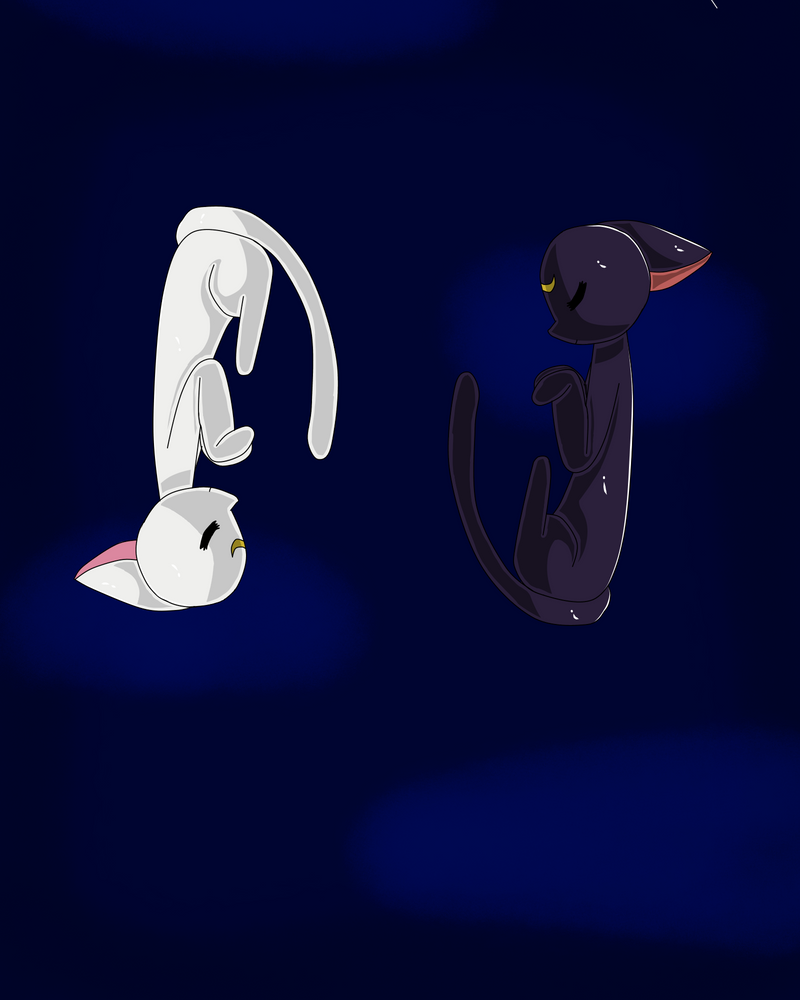 Luna and Artemis by twinkleweird