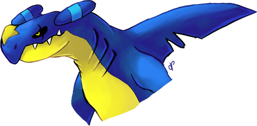 Garchomp with shiny Gible's color scheme