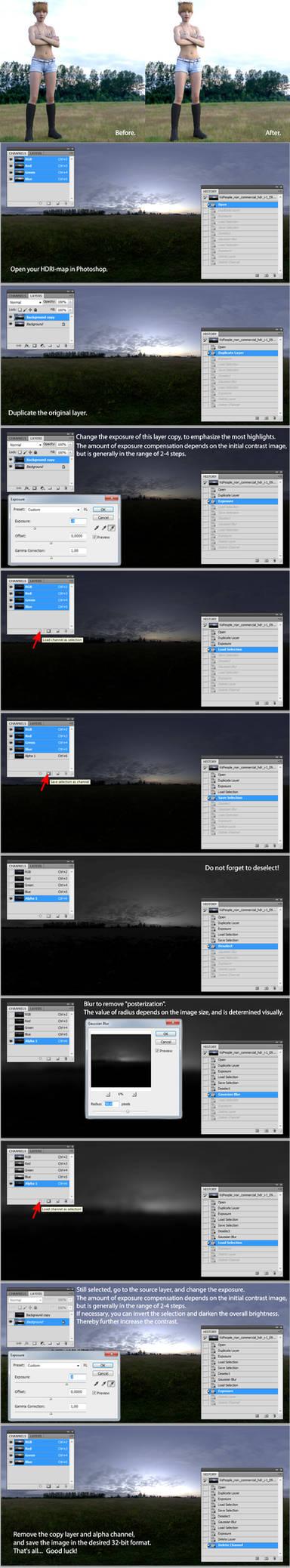 Editing HDRI-map in Photoshop.