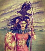 The Morrigan, Goddess of Battle by Popius