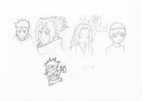 Naruto Sketches by ShiftyJ