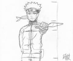 Uzumaki Naruto Sketch by ShiftyJ