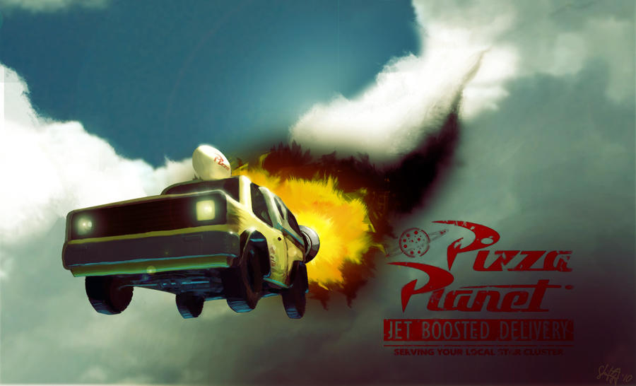 Pizza Planet Jet Delivery by ShiftyJ