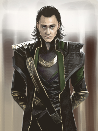 Staring Contest with Loki by Selphie01