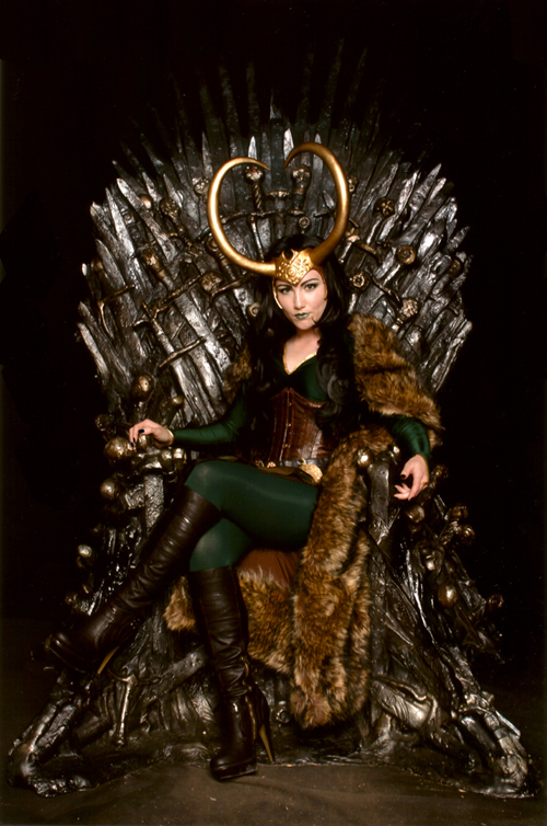 Lady Loki on the Iron Throne by Selphie01