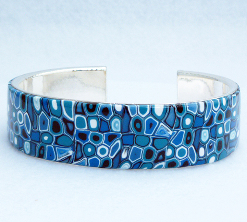 Blue Polymer Bracelet Klimpt Cane by wheeter