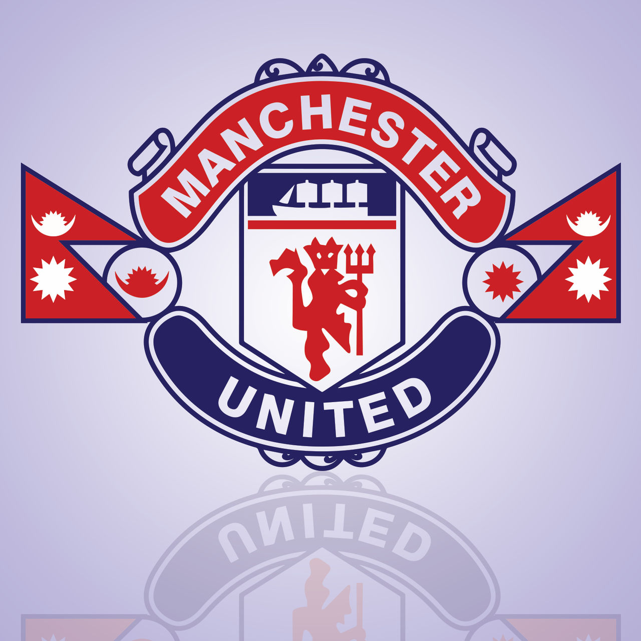 manchester united nepal logo wallpaper by walkinguy on deviantart manchester united nepal logo wallpaper