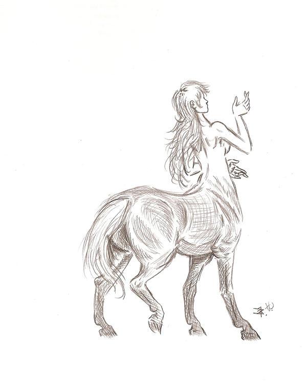 Female Centaur by ThomasCrow