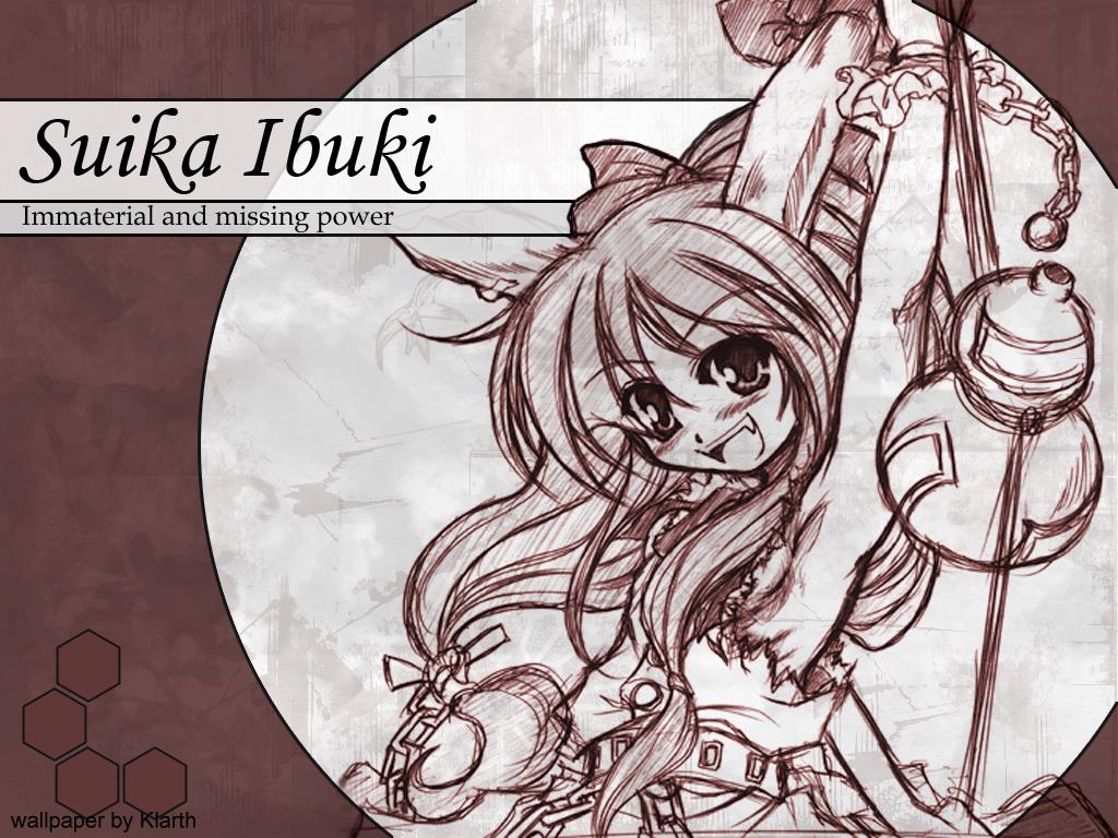 Suika Ibuki Wallpaper By Klarthkun On Deviantart