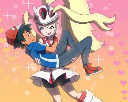 Ash and Korrina kisses