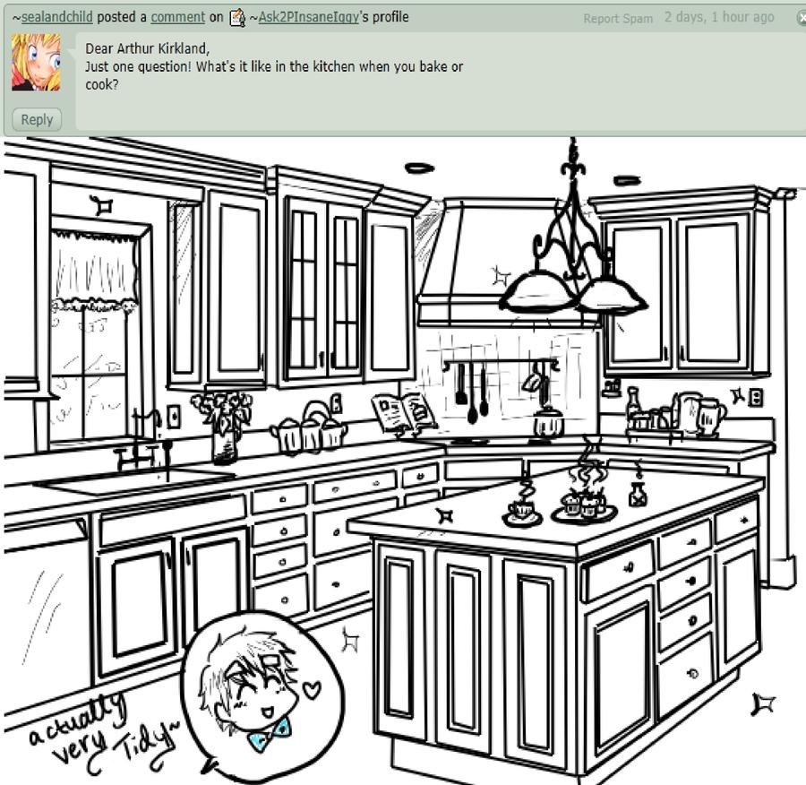 Black And White Kitchen Artwork: Tidy Kitchen By Ask2PInsaneIggy On DeviantArt