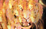 Photomanipulation: Tiger n' fire by xXLOLDAXx
