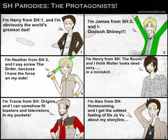 SH Parodies: The Protagonists by nightmare43yume