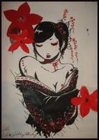 Beautiful Geisha by emoxpunk