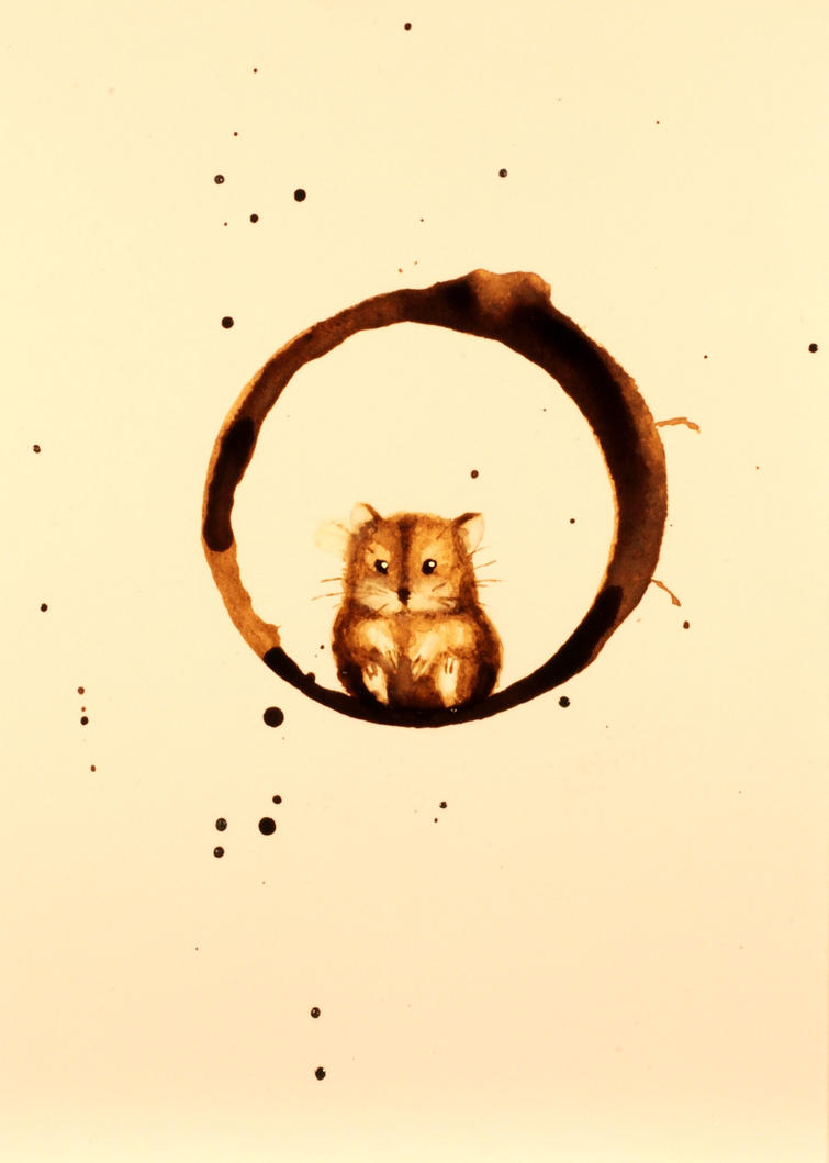 Hamster in Coffee by nadinmadeamess