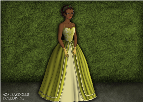 Princess Tiana Doll Cake Topper
