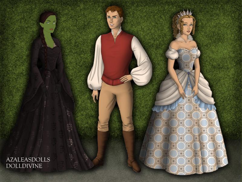 Elphie, Fiyero, and Glinda by AidaPascal999