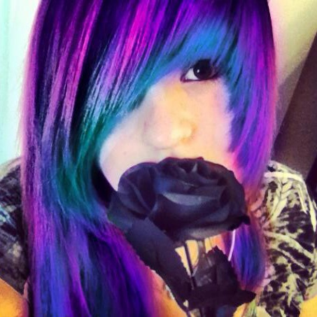 Blue and purple hair by TheNewGenerationOfUsBluish Purple Hair