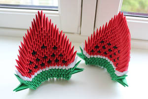 3D Origami - Watermelons by Yinblake