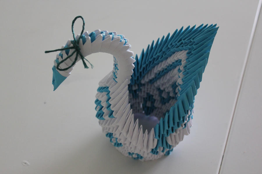 Origami 3d swan and more my collections
